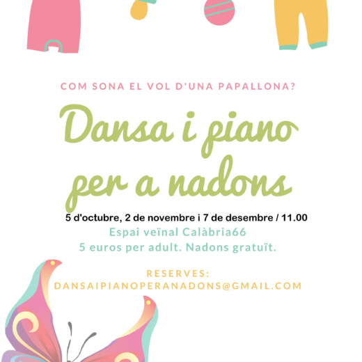 Dates Oct-Nov i Des 19 Dansa Piano per a Nadons