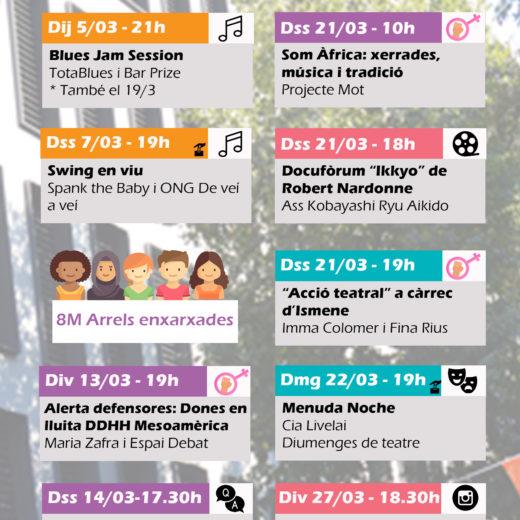 mensual cultural tutticolori març 2020